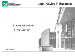 Skript Legal Advice in Business